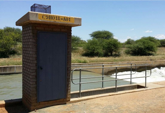 Vaalharts main canal inflow
